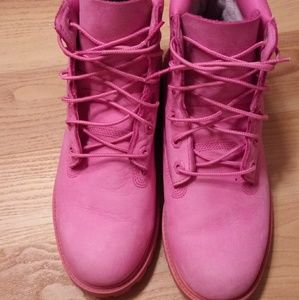 Pink Timberland shoes